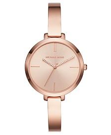 Michael Kors Women's Jaryn Rose Gold-Tone Stainless Steel Bracelet Watch 36mm