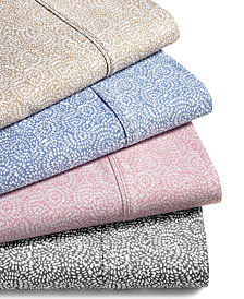 CLOSEOUT! Highland 4-Pc Printed Sheet Set, 600 Thread Count Sateen Cotton Blend, Created for Macy's