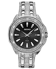Seiko Men's Solar Dress Stainless Steel Bracelet Watch 45mm