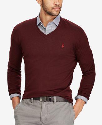 Polo Ralph Lauren Men's V-Neck Merino Wool Sweater - Sweaters ...