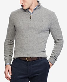 Men's Cashmere Blend Quarter-Zip Sweater, Created for Macy's