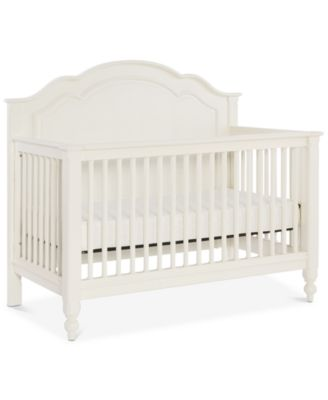 Harmony 4-In-1 Convertible Baby Crib (Convertible Baby Crib, Toddler Daybed & Guard Rail, Converter Bed Rails & Slat Roll)