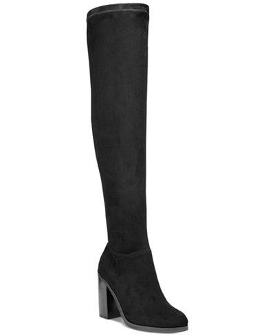 Bar Iii Diandra Over The Knee Block Heel Boots Created For Macy S