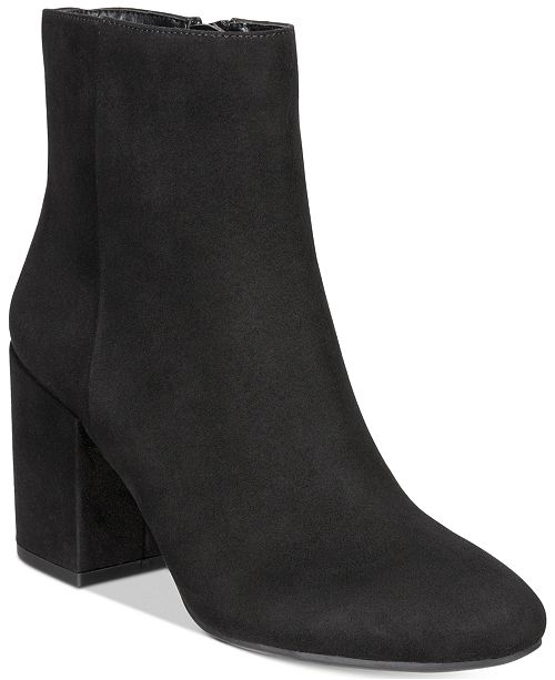 Bar III Gatlin Block-Heel Booties, Created for Macy's