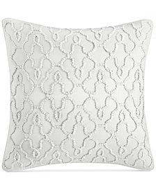 "CLOSEOUT! Hotel Collection Inlay Cotton 22"" Square Decorative Pillow, Created for Macy's"