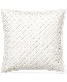 "Lauren Ralph Lauren Jensen Basketweave Twill 20"" Square Decorative Pillow"