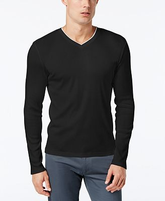 Calvin Klein Men's Long Sleeve Shirt - T-Shirts - Men - Macy's