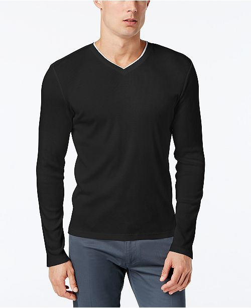 f93d9f58dbd4 Calvin Klein Men s Long Sleeve Shirt   Reviews - T-Shirts - Men ...