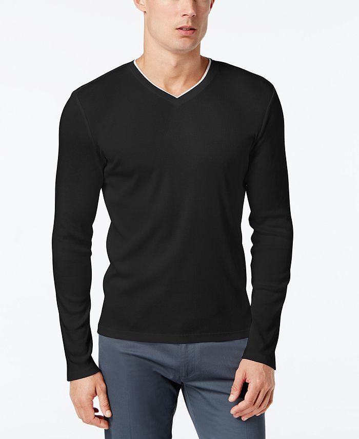 Calvin Klein - Shirt, Long Sleeve Basic Shirt