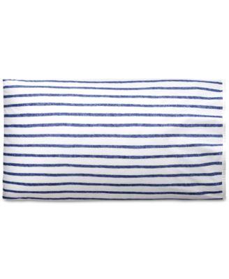 Jensen Cotton Percale 200-Thread Count Stripe Pair of Standard Pillowcases