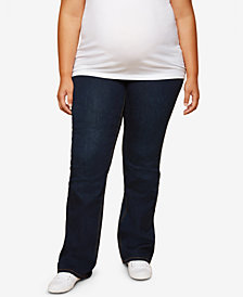 Jessica Simpson Maternity Plus Size Dark Wash Boot-Cut Jeans