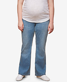 Motherhood Maternity Plus Size Light Wash Boot-Cut Jeans