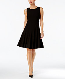 Calvin Klein Petite Sleeveless Pleated A-Line Dress
