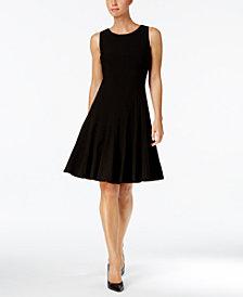 Calvin Klein Petite Sleeveless Pleated A-Line Dress