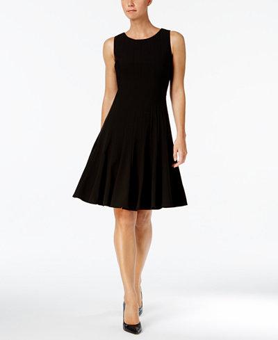 Calvin Klein Sleeveless Pleated A-Line Dress, Regular & Petite Sizes