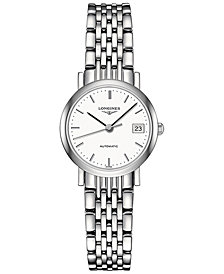 Longines Women's Swiss Automatic Elegant Stainless Steel Bracelet Watch 26mm