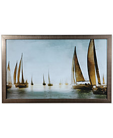Crestview Golden Sails Wall Art, Quick Ship