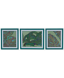 Crestview Kona Set of 3 Garden Wall Art, Quick Ship