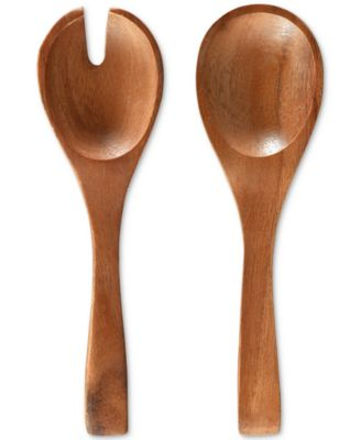 Serveware, Set of 2 Kona Wood Salad Servers