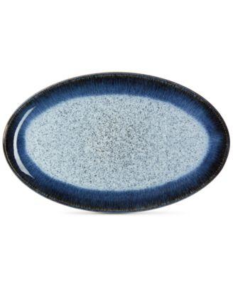 main image; main image ...  sc 1 st  Macyu0027s & Denby Dinnerware Halo Oval Platter - Dinnerware - Dining ...