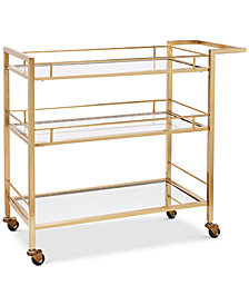Martha Stewart Collection Barware with a Twist Bar Cart