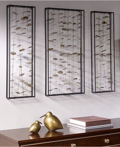 JLA Home Madison Park Signature Clement Metal Wall Decor, Set of 3 ...