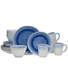 Mikasa  Aventura Blue 16-Piece Dinnerware Set, Service for 4