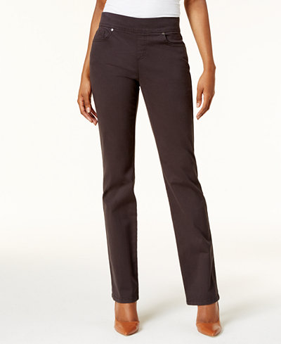 Style & Co Petite Pull-On Straight-Leg Jeans, Created for Macy's