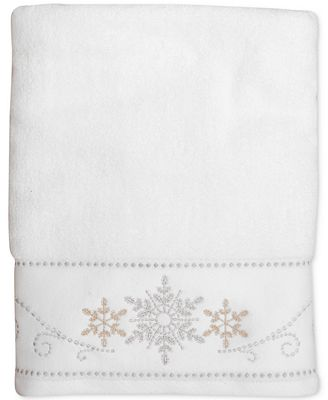 CLOSEOUT! Lenox Snowflake Holiday Towel Collection