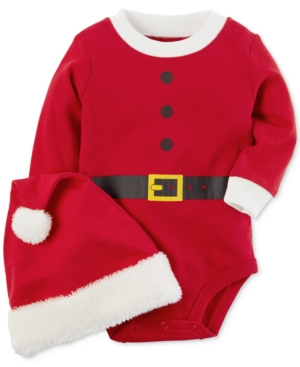 Carters Santa Bodysuit With Hat Baby Boys  Girls (024 months)
