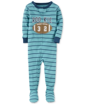 Carters 1Pc Rookie Striped Footed Pajamas Baby Boys (024 months)