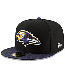 New Era Boys' Baltimore Ravens Sideline 59FIFTY Fitted Cap