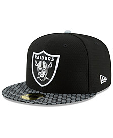 New Era Boys' Oakland Raiders Sideline 59FIFTY Fitted Cap