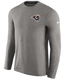 Nike Men's Los Angeles Rams Coaches Long Sleeve T-Shirt