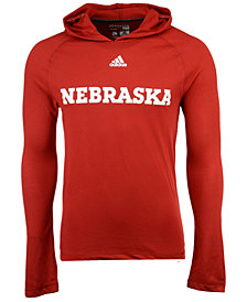 adidas Men's Nebraska Cornhuskers Mark My Words Long Sleeve Hooded T-Shirt