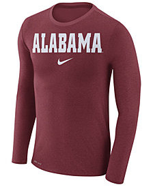 Nike Men's Alabama Crimson Tide Marled Long Sleeve T-Shirt