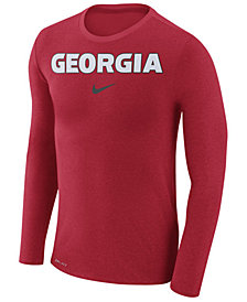Nike Men's Georgia Bulldogs Marled Long Sleeve T-Shirt