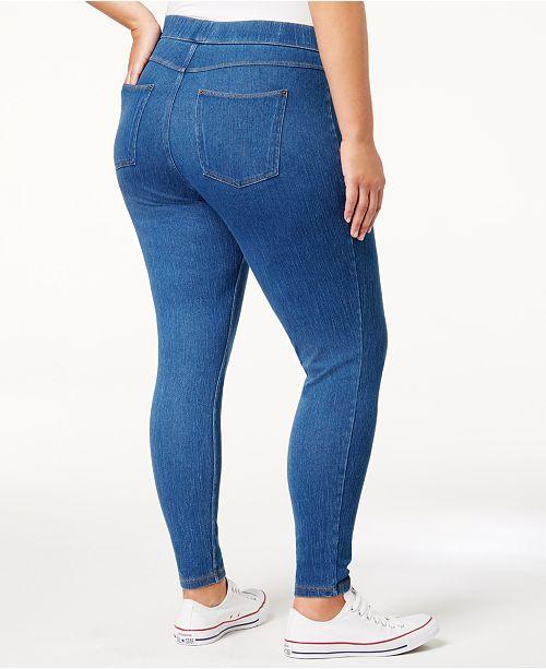 c624f70afafa8 Hue Plus Size Original Denim Leggings, Created for Macy's & Reviews ...