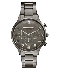 Kenneth Cole New York Men's Gunmetal Stainless Steel Bracelet Watch 42mm