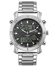 Men's Analog-Digital Stainless Steel Bracelet Watch 45mm