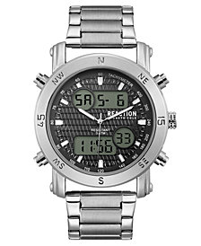 Kenneth Cole Reaction Men's Analog-Digital Stainless Steel Bracelet Watch 45mm