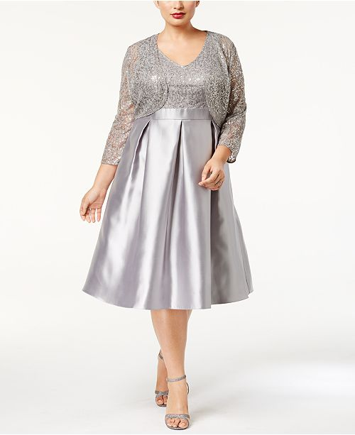 5c7121c77b7 SL Fashions Plus Size Sequined Dress and Jacket   Reviews ...