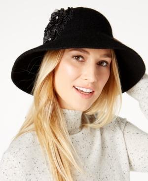 Edwardian Hats, Titanic Hats, Tea Party Hats August Hats Applique Floppy Hat $6.96 AT vintagedancer.com