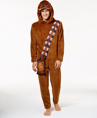 Briefly Stated Men's Chewbacca Jumpsuit Costume Pajamas