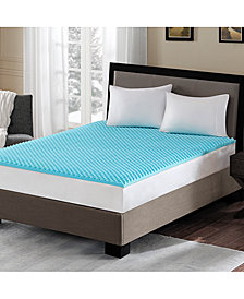 "Flexapedic by Sleep Philosophy 1.5"" Cooling Gel-Infused Memory Foam Mattress Topper Collection"