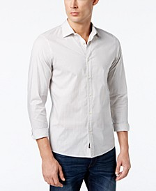 Men's Slim-Fit Trim Stretch Gingham Shirt