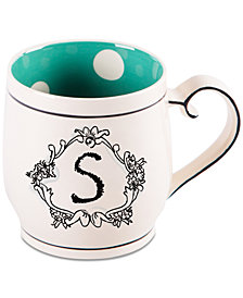 "Home Essentials Katie and Mandy Monogram ""S"" Mug"