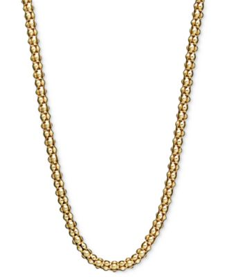 "14k Gold Necklace, 30"" Gauge Popcorn Chain (1-3/4mm)"