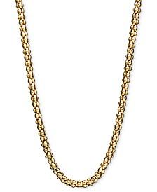 "14k Gold Necklace, 30"" Gauge Popcorn Chain (1-3/4mm)"