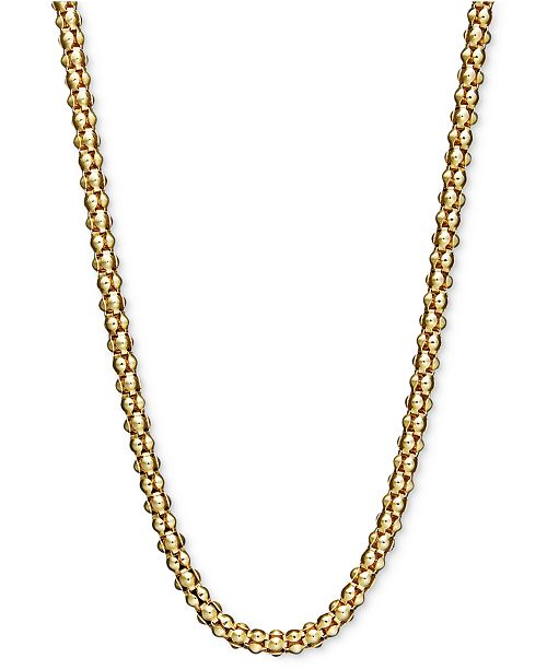 "Macy's 14k Gold Necklace, 16-30"" Popcorn Chain"